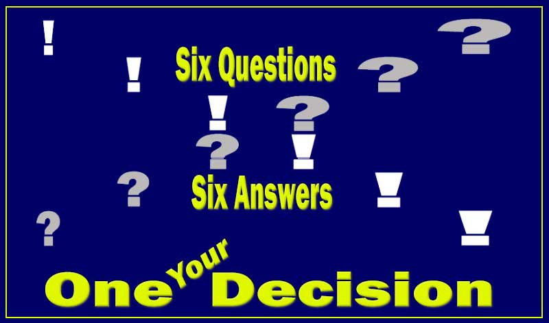 New blog entry: SIX questions - SIX answers - ONE, YOUR decisionhttps://easylife.community/en/blog/14-recent/295-easy-life